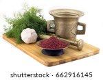 still life spices beetroot... | Shutterstock . vector #662916145