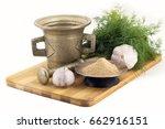 still life spices  ginger... | Shutterstock . vector #662916151