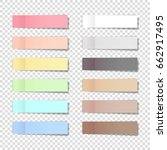 vector note pads set  ... | Shutterstock .eps vector #662917495