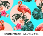 beautiful seamless vector... | Shutterstock .eps vector #662919541