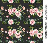 seamless floral pattern with... | Shutterstock . vector #662921851