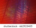 dna encoding. text with... | Shutterstock . vector #662923405