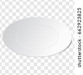empty white dish plate... | Shutterstock .eps vector #662923825
