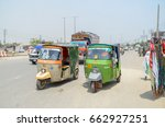 Rikshaw In Lahore Roads  Punja...