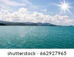 seascape with mountains in the... | Shutterstock . vector #662927965