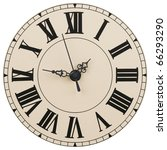 wall clock with the roman... | Shutterstock . vector #66293290