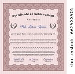 red certificate template or... | Shutterstock .eps vector #662933905