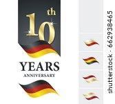 anniversary 10 th years... | Shutterstock .eps vector #662938465