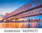 new orleans  louisiana  usa at... | Shutterstock . vector #662944171