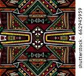 hand drawn seamless pattern... | Shutterstock .eps vector #662945959