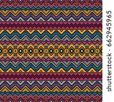 seamless pattern with ethnic... | Shutterstock .eps vector #662945965