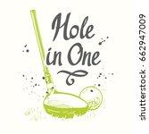 golf. vector set of hand drawn... | Shutterstock .eps vector #662947009