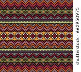 seamless pattern with ethnic... | Shutterstock .eps vector #662950975