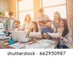 team building concept. close up ... | Shutterstock . vector #662950987