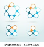 infographic connected circles... | Shutterstock .eps vector #662953321