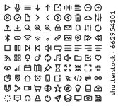 set of user interface icons on... | Shutterstock .eps vector #662954101