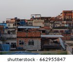group of houses calls favela at ... | Shutterstock . vector #662955847