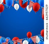 blue usa independence day... | Shutterstock .eps vector #662957029
