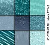 seamless colorful rain drops... | Shutterstock .eps vector #662959435