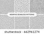 collection of retro memphis... | Shutterstock .eps vector #662961274