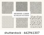 collection of seamless memphis... | Shutterstock .eps vector #662961307