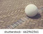 concrete spherical ball shaped...   Shutterstock . vector #662962561