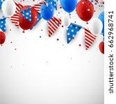 usa independence day background ... | Shutterstock .eps vector #662968741