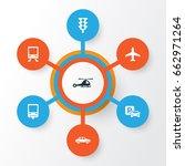 transportation icons set....   Shutterstock .eps vector #662971264