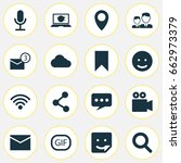 internet icons set. collection...   Shutterstock .eps vector #662973379