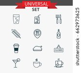 cafe icons set. collection of... | Shutterstock .eps vector #662973625