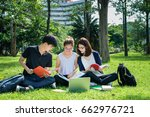 young students asian together... | Shutterstock . vector #662976721