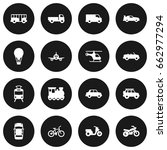 set of 16 shipping icons set... | Shutterstock .eps vector #662977294