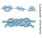 sea boat rope knots vector... | Shutterstock .eps vector #662984275