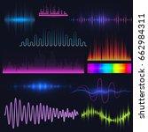 vector digital music equalizer... | Shutterstock .eps vector #662984311
