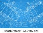 mechanical engineering drawings ... | Shutterstock .eps vector #662987521