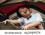 fat boy are playing in... | Shutterstock . vector #662989579