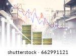 double exposure of businessmen... | Shutterstock . vector #662991121
