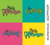 make the difference be... | Shutterstock .eps vector #662999209