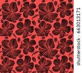 hawaiian tropical natural... | Shutterstock .eps vector #663013171