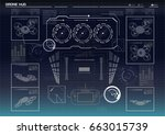 futuristic background with... | Shutterstock .eps vector #663015739