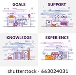 vector set of banners with... | Shutterstock .eps vector #663024031