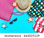 the concept of accessories for...   Shutterstock . vector #663025129
