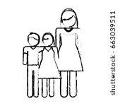 pictogram family design | Shutterstock .eps vector #663039511