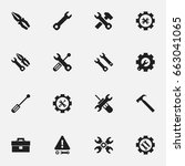 set of 16 editable toolkit... | Shutterstock .eps vector #663041065
