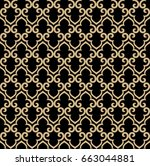abstract pattern in arabian... | Shutterstock . vector #663044881