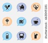 set of 9 editable holiday icons....