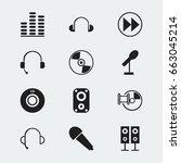set of 12 editable music icons. ...