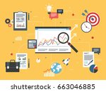 investment data and business... | Shutterstock .eps vector #663046885