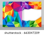 cover copybook with triangle... | Shutterstock . vector #663047209