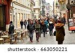 rouen  france   november 26...   Shutterstock . vector #663050221